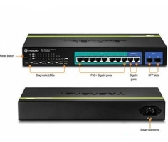 Switch 10-port Gigabit Websmart PoE+ Switch /w 2 SFP slots (8 PoE+, 2 SFP) (75W)