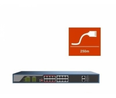 Switch POE HDPARAGON 16 port HDS-SW1016POE